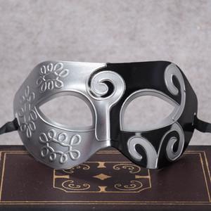 9 * 16 cm 24 colori di halloween mardi gras mascherata maschera di celebrazione cosplay jazz principe mezza faccia plastica intagliata maschera party bh0107