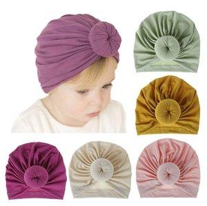 Kid Cotton Cap Fashion Toddler Baby Boy Girl Turban Bow Knot Kid Head Wrap Cotton Knitted Beanie Warm Cap Accessories Winter Hat