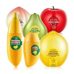 Hidratante Hidratante Crema de Manos Fruta Pera Limón Melocotón Mango Plátano Invierno Cuidado de las manos Cuidado de la piel nutritivo