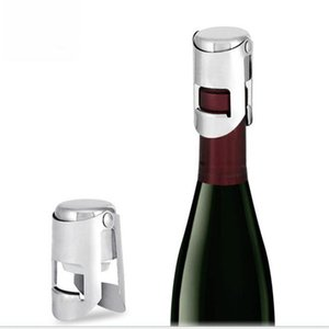패션 맥주 스테인레스 스틸 플러그 인감 휴대용 샴페인 와인 스파클링 와인 마개 분리 플러그 유리 플러그를 사용 스토퍼 WY92Q 반복