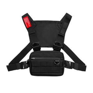 2020 New Men Chest Rig Streetwear Vest Sports cintura Saco Militar Utility Pacote Shoulder Bag Phone dinheiro Tactical Peito Bolsas Colete K82C