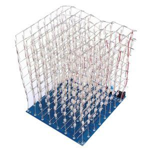 3D LightSquared DIY Kits 8x8x8 LED Cubes Blue Squared Music MP3 Lamp
