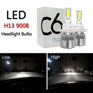 Areyourshop سيارة H13 9008 C6 LED المصباح تحويل أطقم المصابيح مرحبا / منخفض شعاع عالية الطاقة 6000 كيلو سيارة اكسسوارات السيارات أجزاء