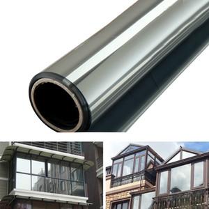 One Way Mirror конфиденциальности Отражение 15% Оттенок Оконная пленка Solar Energy Save Building Glass Film Home Window Наклейки ВС Фильм 1M * 50см / 2M * 50см