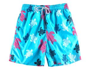 Vilebre Board Shorts Hombres Bermudas Vilebre Turtle Printing Hombre Boardshort 100% de secado rápido para hombres