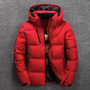 Зимняя куртка Толстых пальто мужского Snow Parka Мужской Теплый Outwear мода пуховик мужчины теплой одежду
