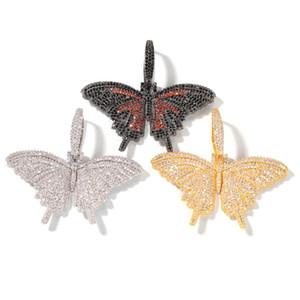 Cuello colgante colgante de oro plata rosa collar de mariposa para hombre para mujer moda moda hop collar de joyería