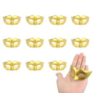 12pcs Mini partito di travestimento di Mardi Gras del partito decorazione di Halloween Mask Stand Up Topper Mask