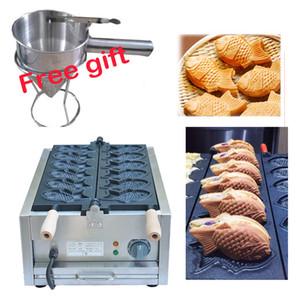 Ücretsiz Kargo Elektrik 110v Taiyaki Waffle ızgara balık şekli waffle makinesi 220V
