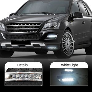 DRL For Mercedes Benz ML350 W164 ML300 ML320 2010 2011 Daytime Running Lights Fog head Lamp cover car styling