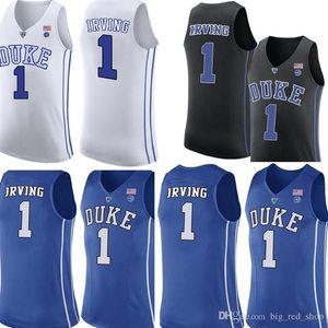 Duke Blue Devils Jersey Kyrie Irving 1 Basketball Maillots Université Hommes Bleu Noir Blanc Jersey Cheap de gros