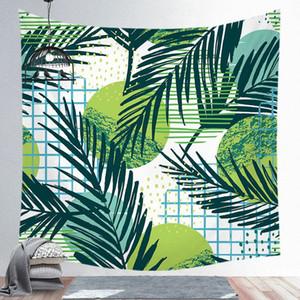 De alta calidad de las hojas del verde 3D Tapiz Tropical Pared planta colgante Granja Hogar Tapices Mantel Colcha Tenture Alfombra