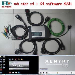 Para Mercedes Benz OBD MB estrella C4 SD Conector C4 y con 2020.06V software SSD 512G coche herramientas de diagnóstico de soporte Wi-Fi en stock