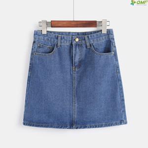 Venta caliente 2019 Jeans de verano mini faldas para niña más el tamaño Minifalda informal Streetwear falda de una línea Nueva llegada Denim Falda