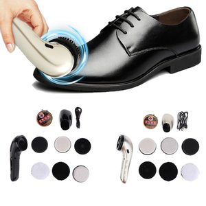 Multifunctional Electric Shoe Polisher Kit Handheld Shoe Bag Cleaning Brush Set Machine for Leather Care