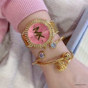Bilezik Saatler İçin Kadınlar Rose Gold Rhinestone Saat Ünlü michael Kadınlar Moda Elbise Bayanlar İzle Kadın lüks altın saat mk gül