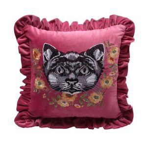 Luxury designer ricamo cartello G federa cuscino 45 * 45 cm e 30 * 50 cm casa e auto decorazione federa vita federa