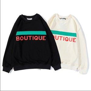Pullover Herren 20SS Herbst Mode-Rundhalsausschnitt Brief Animal Print Pattern Trend Männer Frauen Pullover Größe M-2XL