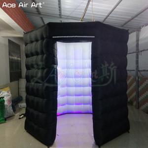 Hot venda levou octagon estande forma foto cabine inflável, copa evento do partido com luzes embutidas brigher e tampa do porta removível para o México