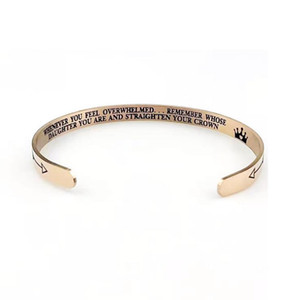 Hot sale stainless steel bracelet cuff bracelets remember whose daughter you are