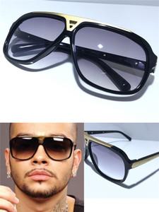 Fashion Luxury Mens Evidence Designer-Sonnenbrille Verbesserte Version Z0350W MILLIONAIRE Series Designer-Sonnenbrille matt Gold Frame With Box