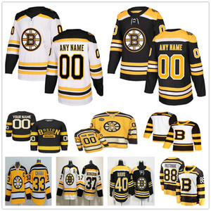 Boston # 37 personalizzata Patrice Bruins 13 Charlie Coyle 42 David Backes 47 Torey Krug 46 David Krejci Uomo Donna Bambini Maglie hockey per ragazzi