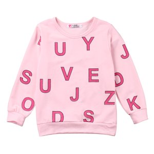 Toddler Baby Girls Cotton Kids letter printed T-Shirt Long Sleeve Pullover Tee Tops Sweatshirt