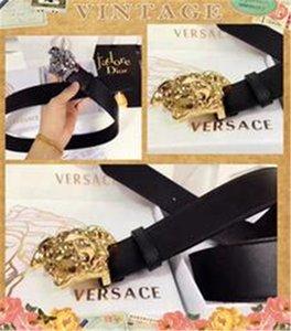 Vendas de alta qualidade de luxo cinto de medusa linha de seda de negócios, adequado para homens, mulheres cinto de couro designer de caixa de cinto de cowboy atacado