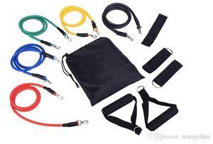 11pcs   Set Fitness Resistance Bands Exercise Tubes Practical Elastic Training Rope Yoga Pull Rope Pilates Workout Cordages