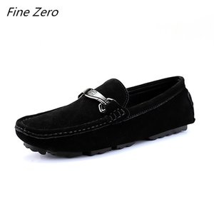 New Fashion  Cow Suede Leather Men Flats Men Casual Shoes High Quality Loafers Moccasin Driving Shoes Hommes Chaussures