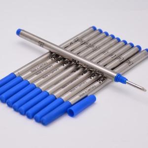 Venta caliente-10 piezas de alta calidad negro o azul 0,7mm pluma recargas para MB Roller Ball Pen papelería escuela Oficina escribir suave 710 recargas de tinta