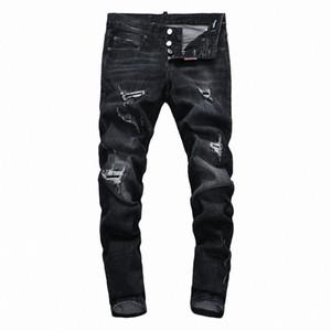 2019 SS Hip-Hop Moda Uomo Black Hole dei jeans del foro della chiusura lampo di tendenza dei jeans da uomo Decorazione foro Jeans Uomo Pants DN35
