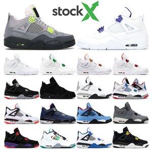 X della Mens scarpe da basket 4s 95 al neon viola corte Bred cemento bianco freddo grigio gatto nero puro mens MONEY sportive sneakers formatori