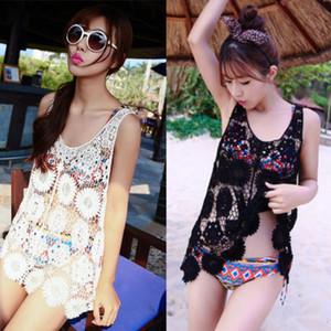 2018 caliente de la manera de las mujeres del cordón floral camisa de la ropa de sport Beach Cover Up Sarong outwear la camisa