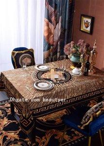 Alta calidad retro diosa cabezal de impresión Mantel estilo borlas TableclothHome hotel a prueba de polvo Tnsulated Mantelería textiles para el hogar