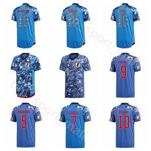 2020 Futbol Japonya 9 SUZUKI Jersey Men 11 Tagawa 8 IDEGUCHI 18 HASHIMOTO 2 SUGA 19 Sasaki 1 NAKAMURA Japon Futbol Gömlek Setleri