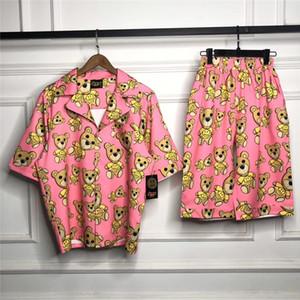 2020 أفضل جودة درو البيت القمصان قصيرة الأكمام الرجال النساء الأزواج الهيب هوب المتضخم فقط بيبر درو الدب قميص ملابس النوم مجموعة