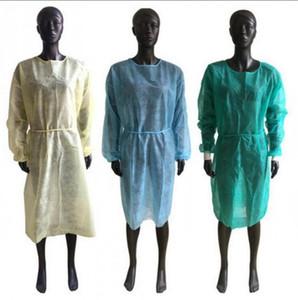 Nicht gewebtes Schutzkörper Einweg-PP-Schutz-Isolationskleidung Anti-Staub-Ohrfein-Arbeitskleidung Schürzen OOA8182