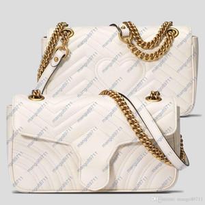 Borse borse in pelle Donne Borse Tracolle Chain della cinghia Donne Tote signore di sacchetto della borsa della borsa 22 centimetri Moda Borse