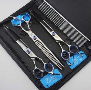 JOEWELL 8.0 дюйма 62HRC 440C твердость нержавеющей стали ножницы волос с сапфиром на винт волос ножницы для резки комплект