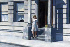 Edward Hopper Summertime Home Decor pintado à mão HD Pinturas Imprimir óleo sobre tela Wall Art Pictures A346
