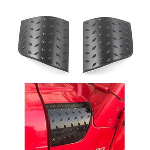 Wrap ángulo negro ABS coches armadura costado de alero de la cubierta de la capilla Cubiertas (estilo de puntero) para Jeep Wrangler TJ 1997-2006 Segunda Generación