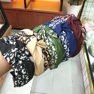 Corée du Bandeaux pour les femmes Bow Noeud Hairband Croix solide Noeud Femmes Cheveux Tête Hoop Doux Simple Filles Bandeau Accessoires cheveux 5 Styles