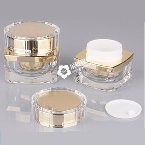 Cosmetic Jar 5g 10g 20g 30g 50g Acrylic Small Empty Cosmetic Refillable Bottles Plastic Eyeshadow Makeup Face Cream Jar Pot Container
