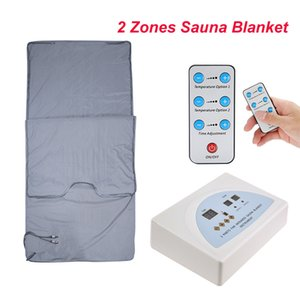 Beste Qualität Infrarot-Sauna BLANKET 2 ZONE FIR FAR SLIMMING Heizung SPA-Therapie WEIGHT LOSS PORTABLE DETOX Schönheit Ausrüstung Ray Wärme