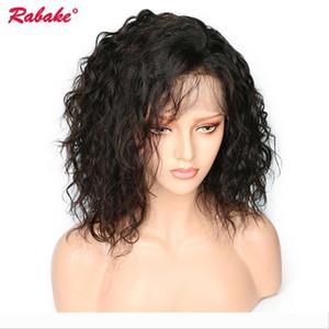Brésil Virgin Remy 4x4 Top en soie Bob Lace Front Wigs Rabake naturel Vague Cheap court Lace Front perruques Bob bébé cheveux pré plumé