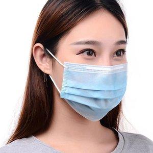 Einweg-Gesichtsmaske drei Layer-Ear-Schleife Staub zu schützen Gesundheit Mundmasken Cover 3-Ply Non-woven Einweg-Staubatmungsaktiv Outdoor-Maske