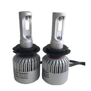 2Pcs S2 H7 72W 7200LM LED 헤드 라이트 전구 변환 키트 COB 빔 슈퍼 밝은