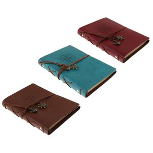 3 Pieces A5 Leather Journal Notebook Portable Loose Leaf Blank Notebook for Drawing, Diary