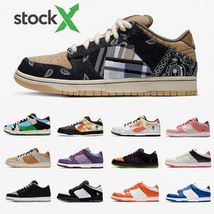 Nike SB DUNK Luxury Brand Stock X Ben Jerrys Chunky Dunky Dunk Low Mens Designer sneakers Travis Scott Cactus Jack Safari Raygun Tie-Dye Infrared Panda Pigeo women casual shoes